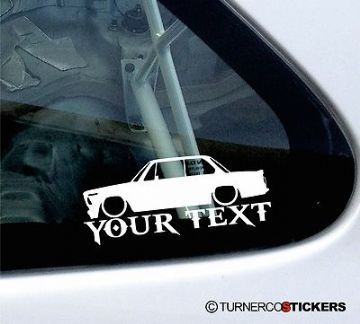 Custom Text / Name, for LOW BMW 2002 Turbo (73') lowered car sticker / Decal